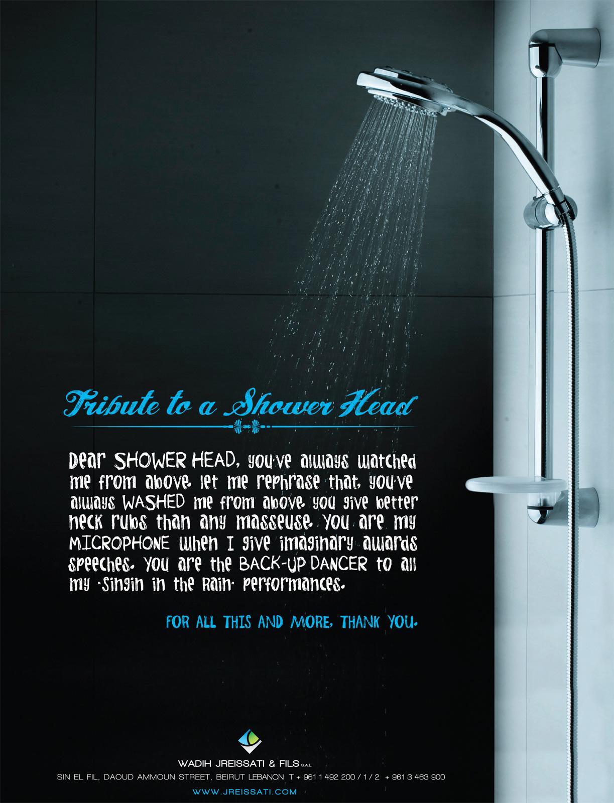 Wadih Jreissati and Sons Print Ad -  Shower head