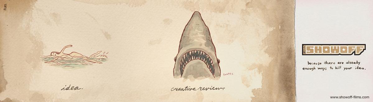 Show Off Films Print Ad -  Shark