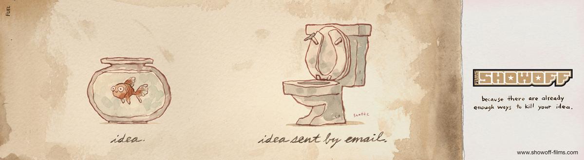 Show Off Films Print Ad -  Toilet