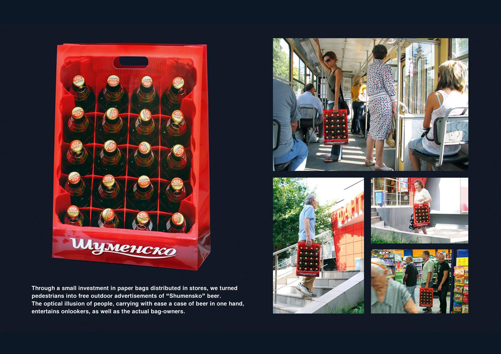 Shumensko Direct Ad -  Beer crate