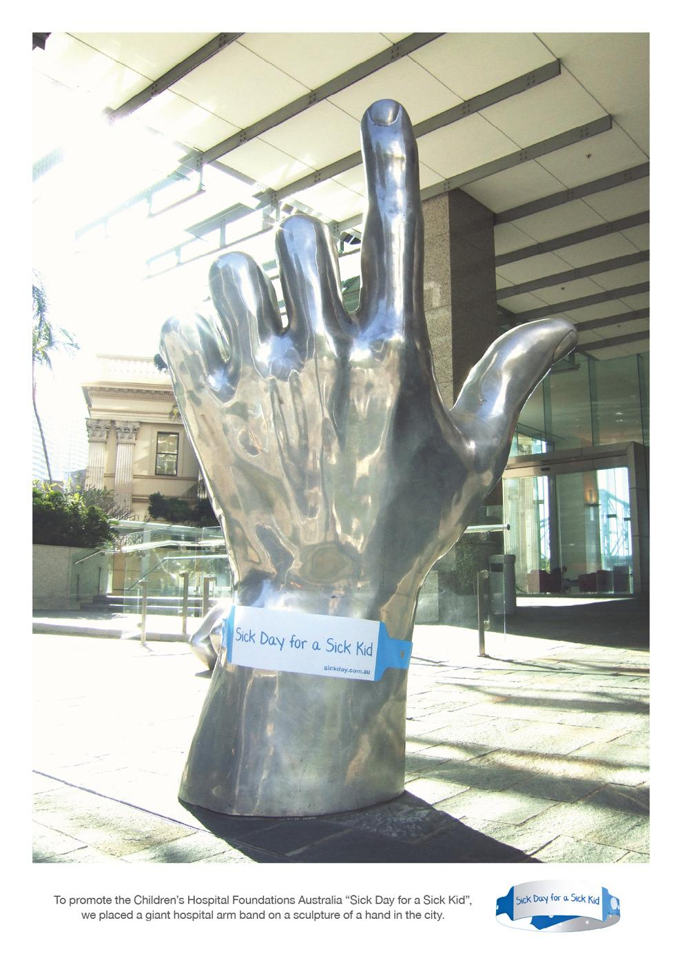 Children's Hospital Foundations Australia Ambient Ad -  Hand