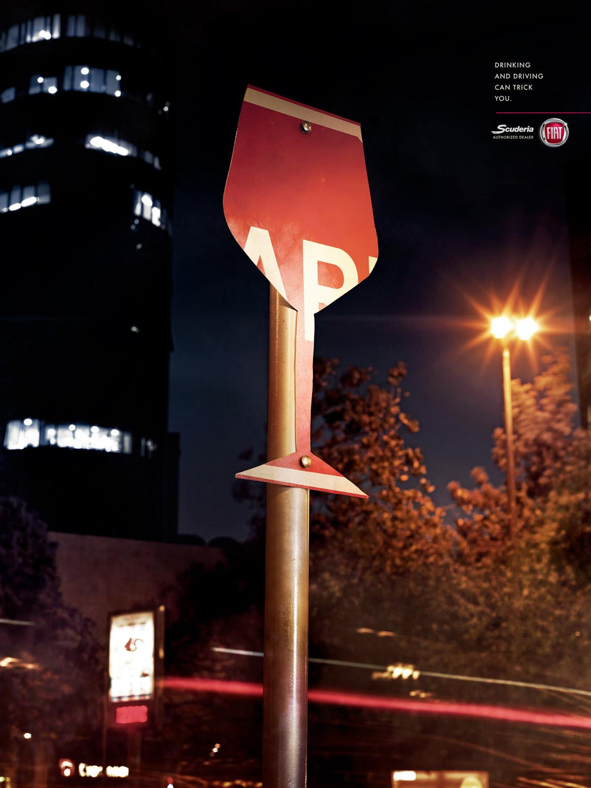 Fiat Print Ad -  Traffic Signs, 2