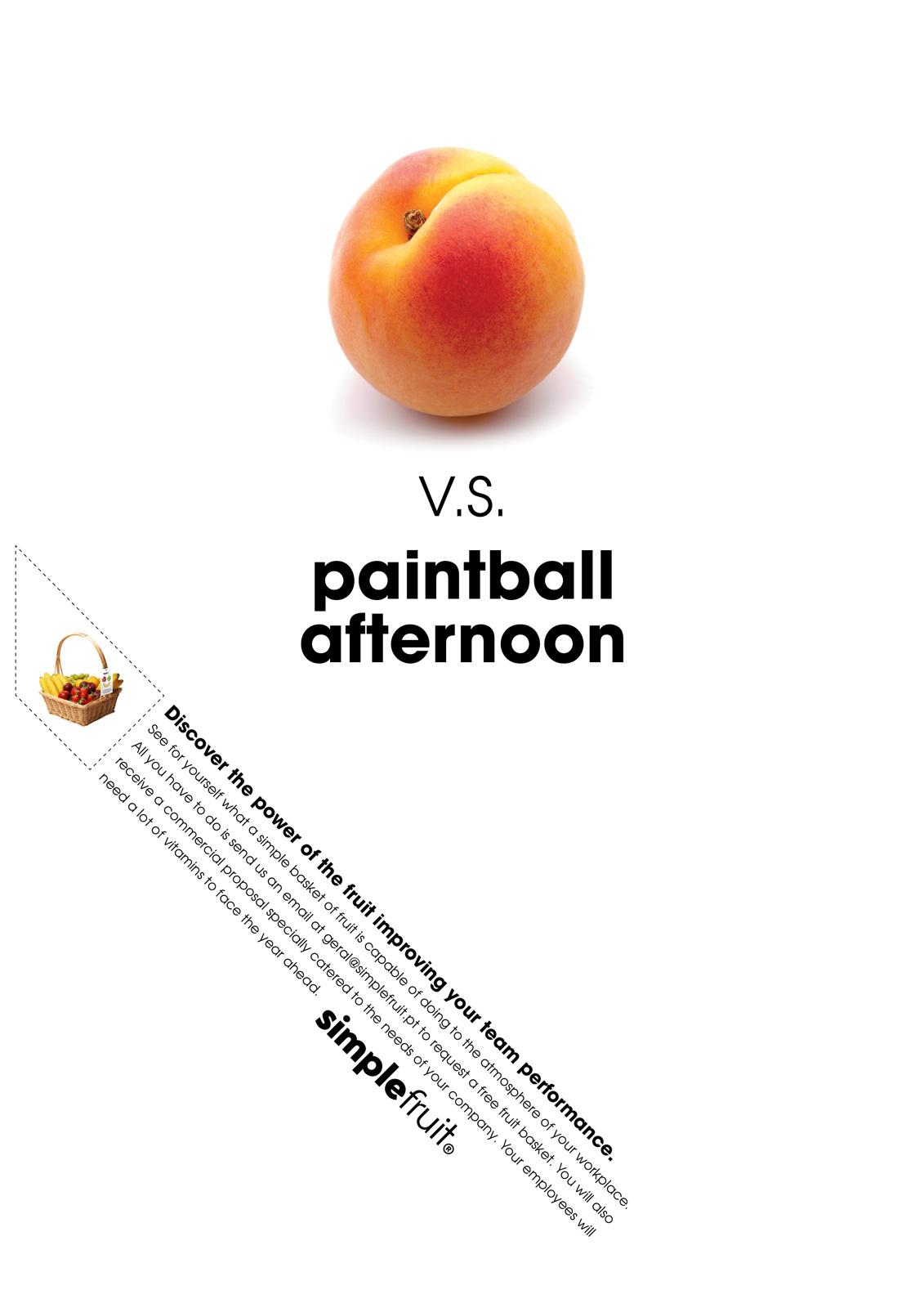 Simple Fruit Print Ad -  Paintball