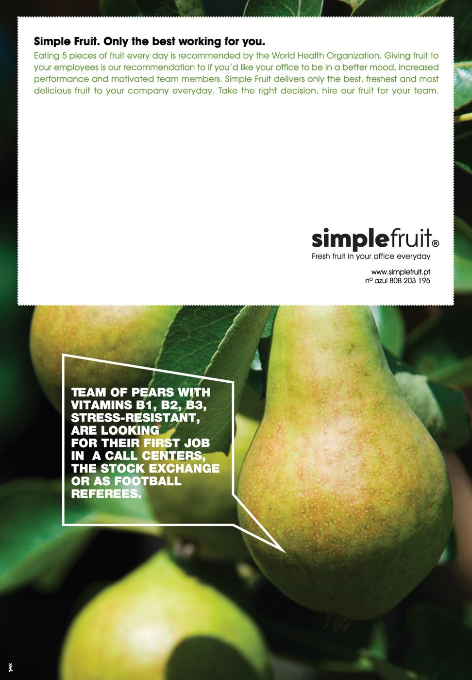 Simple Fruit Print Ad -  Pear