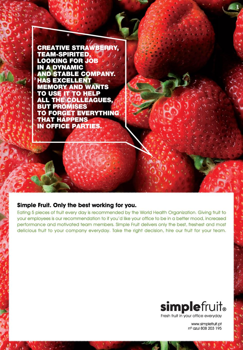 Simple Fruit Print Ad -  Strawberry