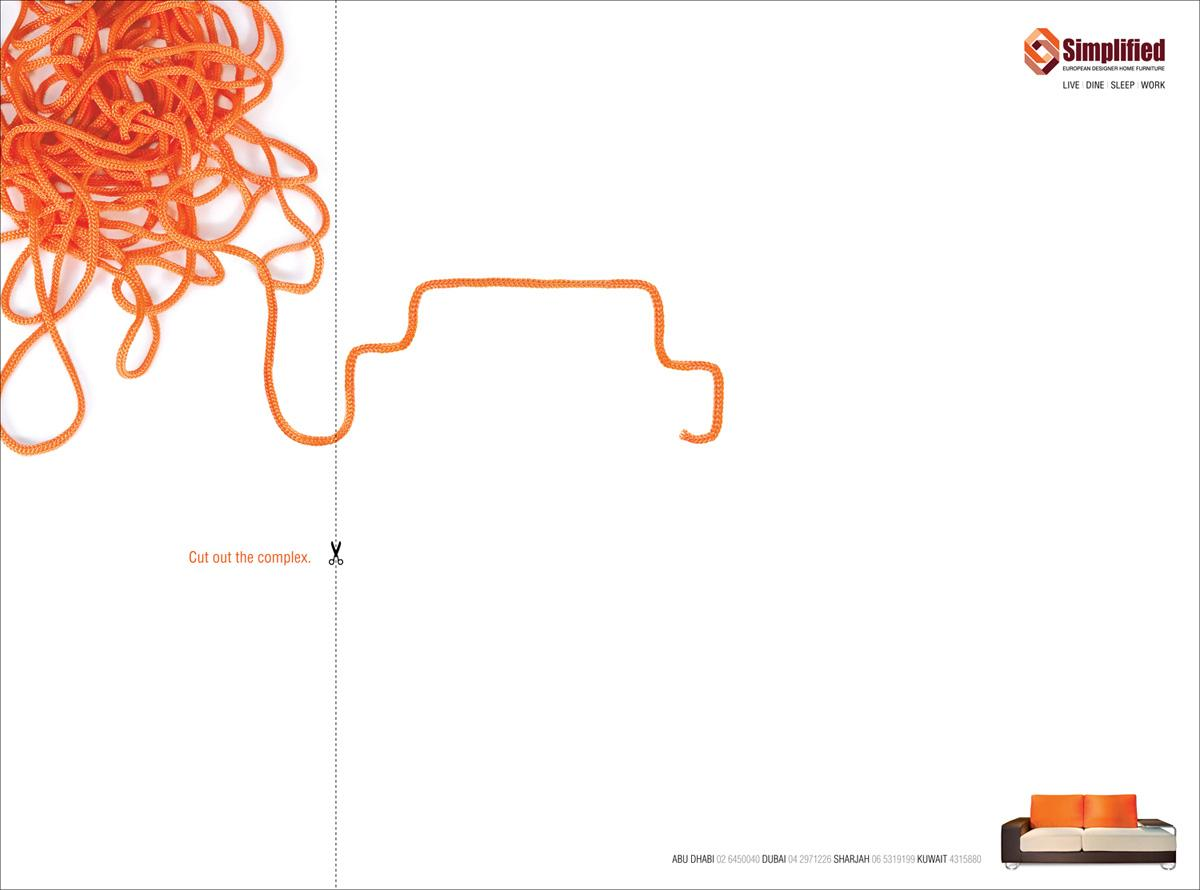 Simplified Print Ad -  Cut out the complex, 5