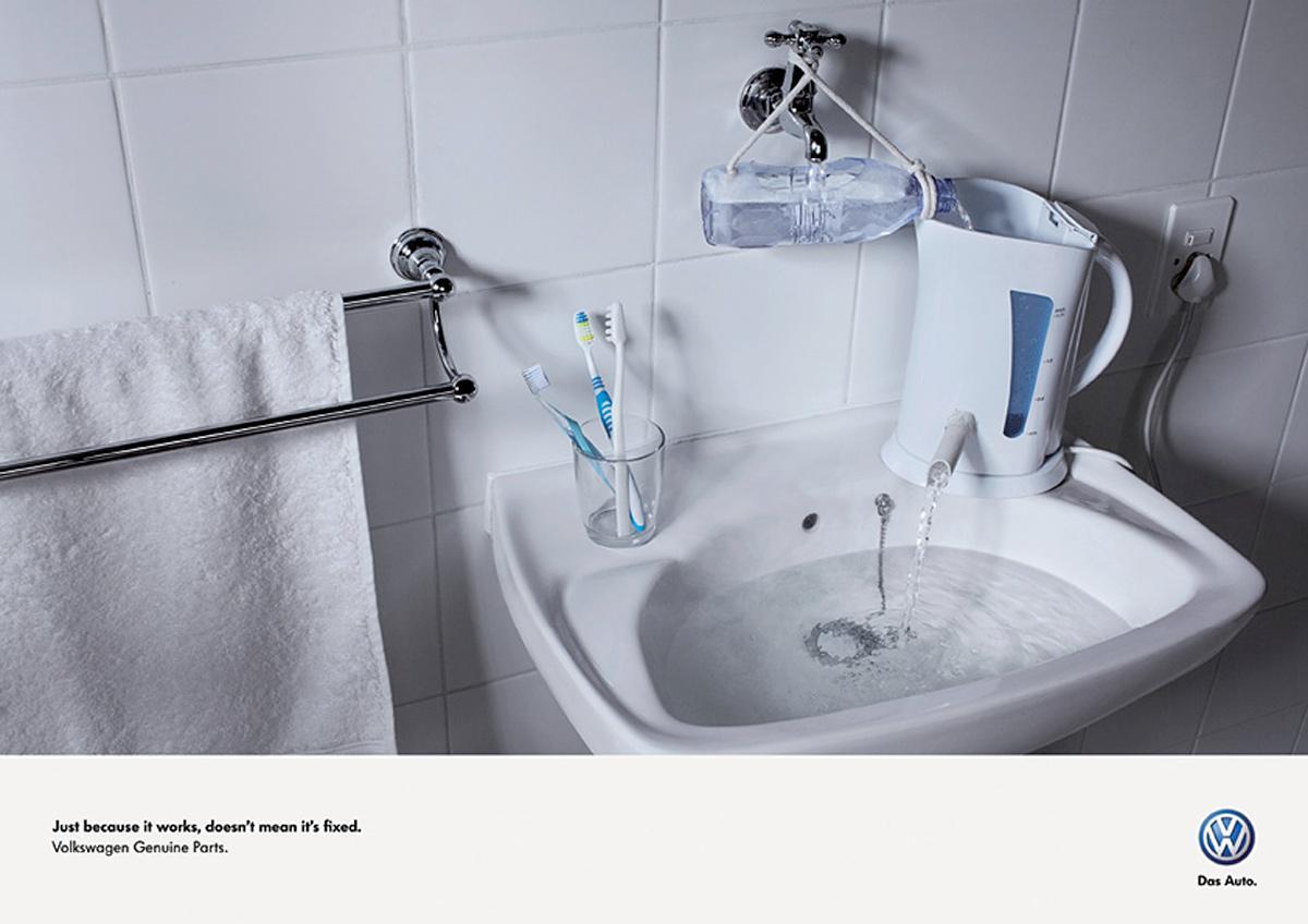 Volkswagen Print Ad -  Sink