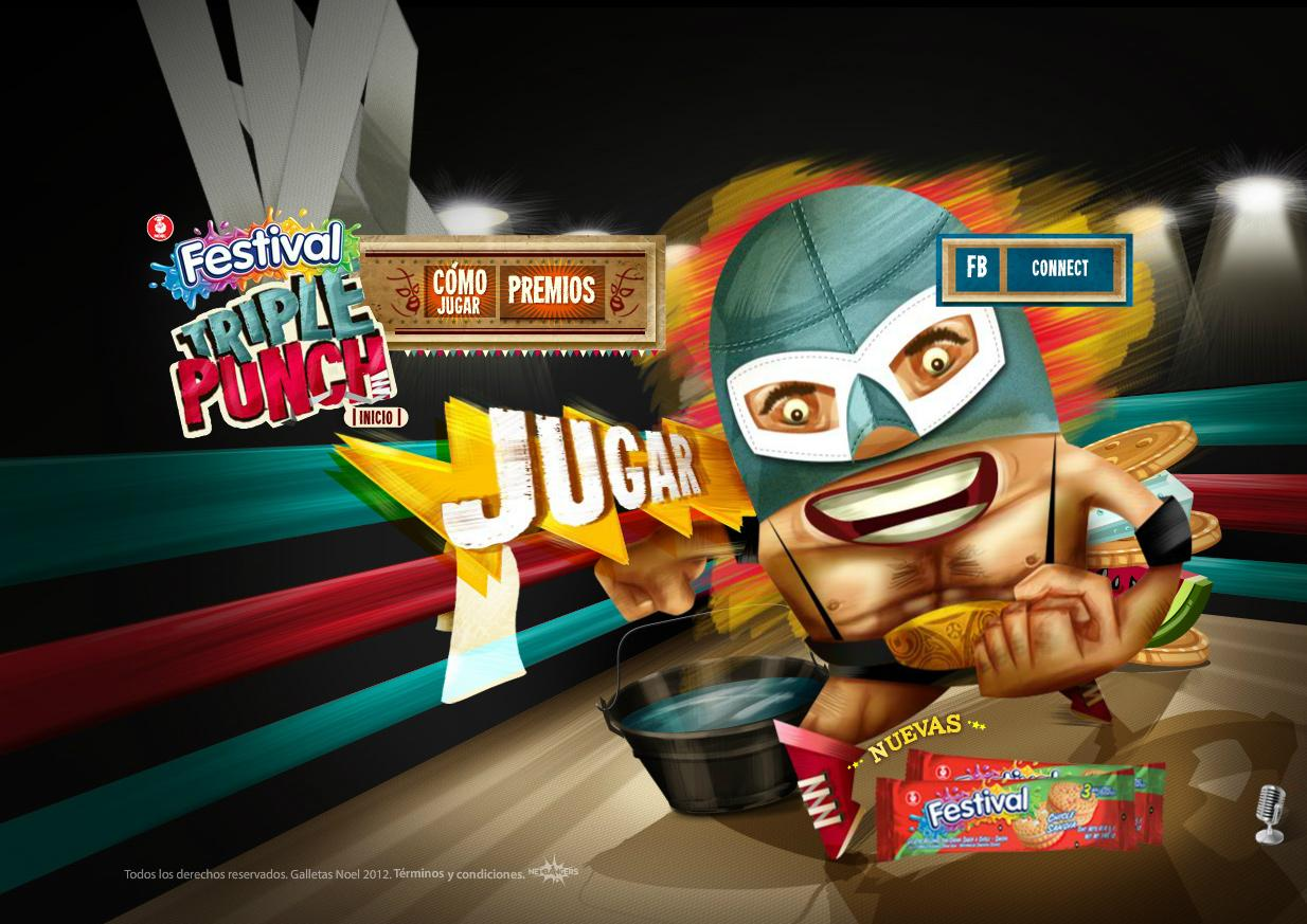 Festival Sandwich Cookie Digital Ad -  Festival Triple Punch