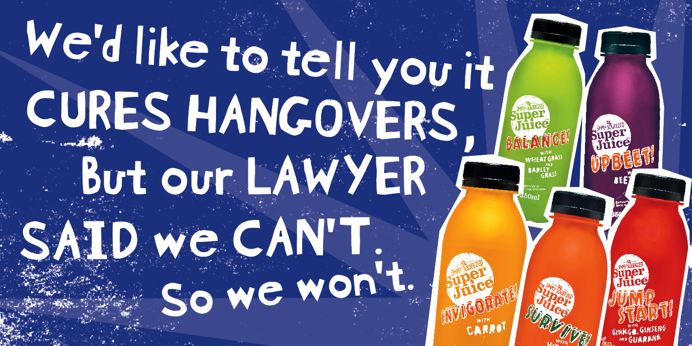 SuperJuice Outdoor Ad -  Hangover
