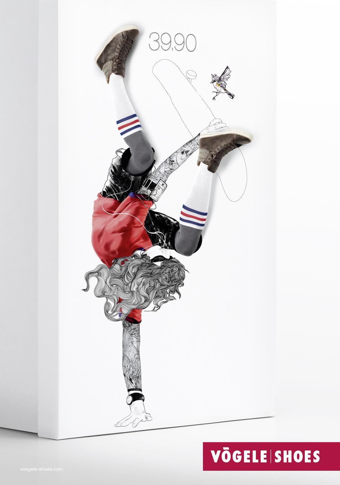 Vögele Print Ad -  Box Models, Skater