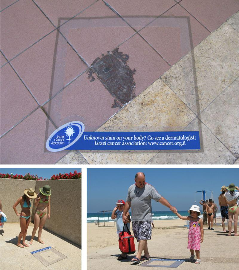 Israel Cancer Association Ambient Ad -  Unknown stain