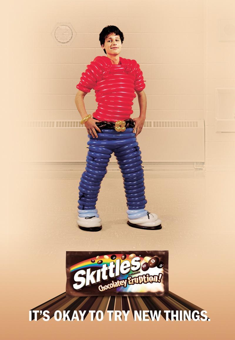 Skittles Print Ad -  Balloons