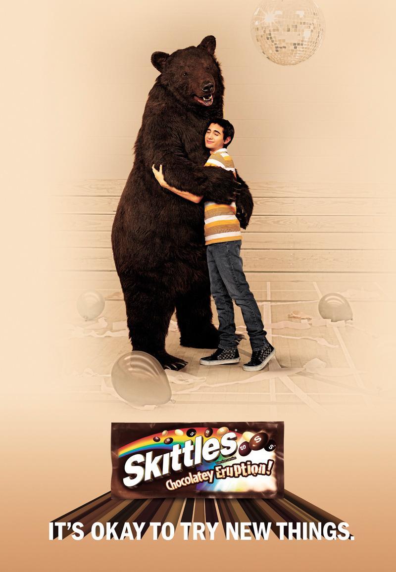 Skittles Print Ad -  Bear