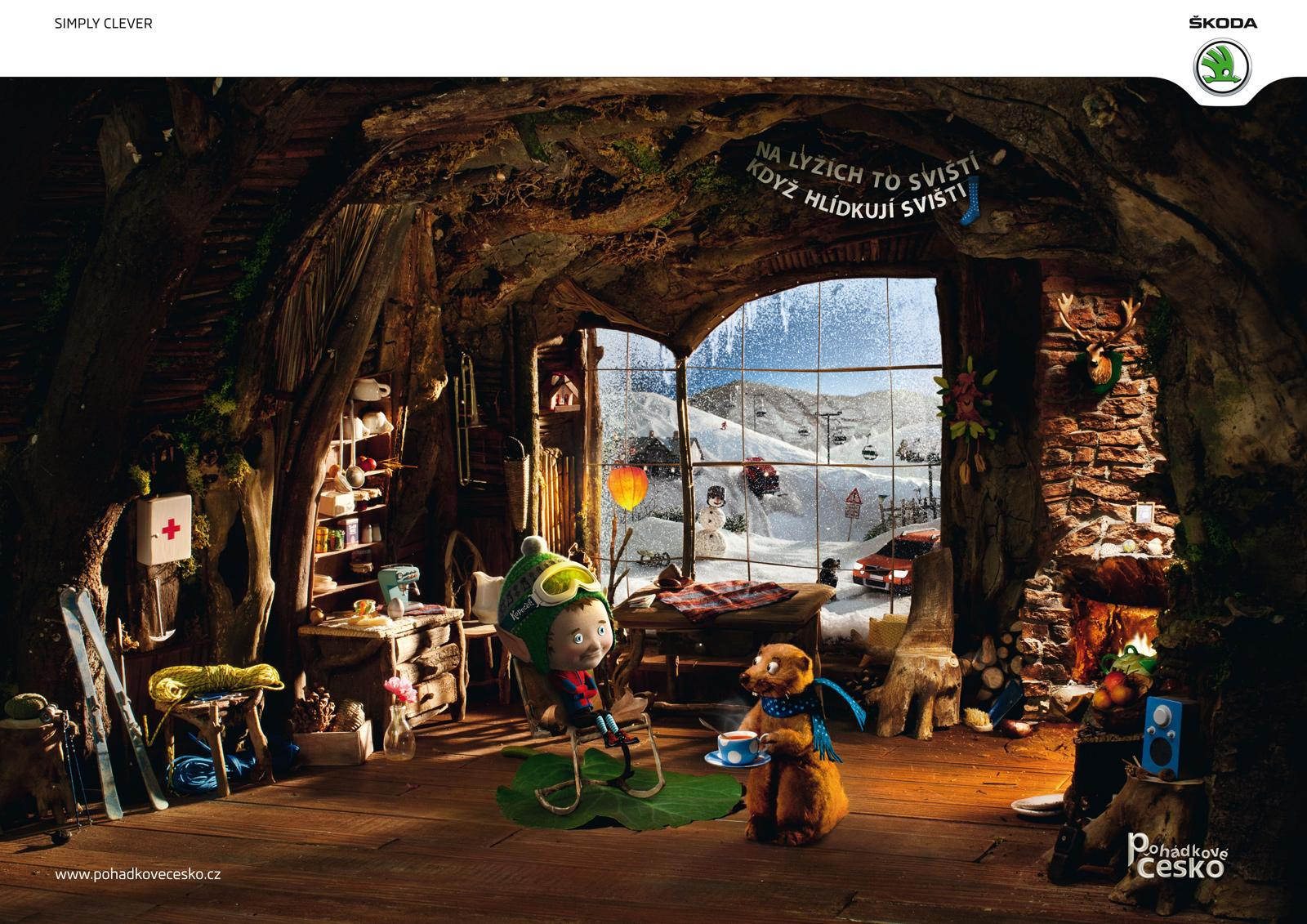 Skoda Print Ad -  Fairytales of the Czech republic, Mountain Elf