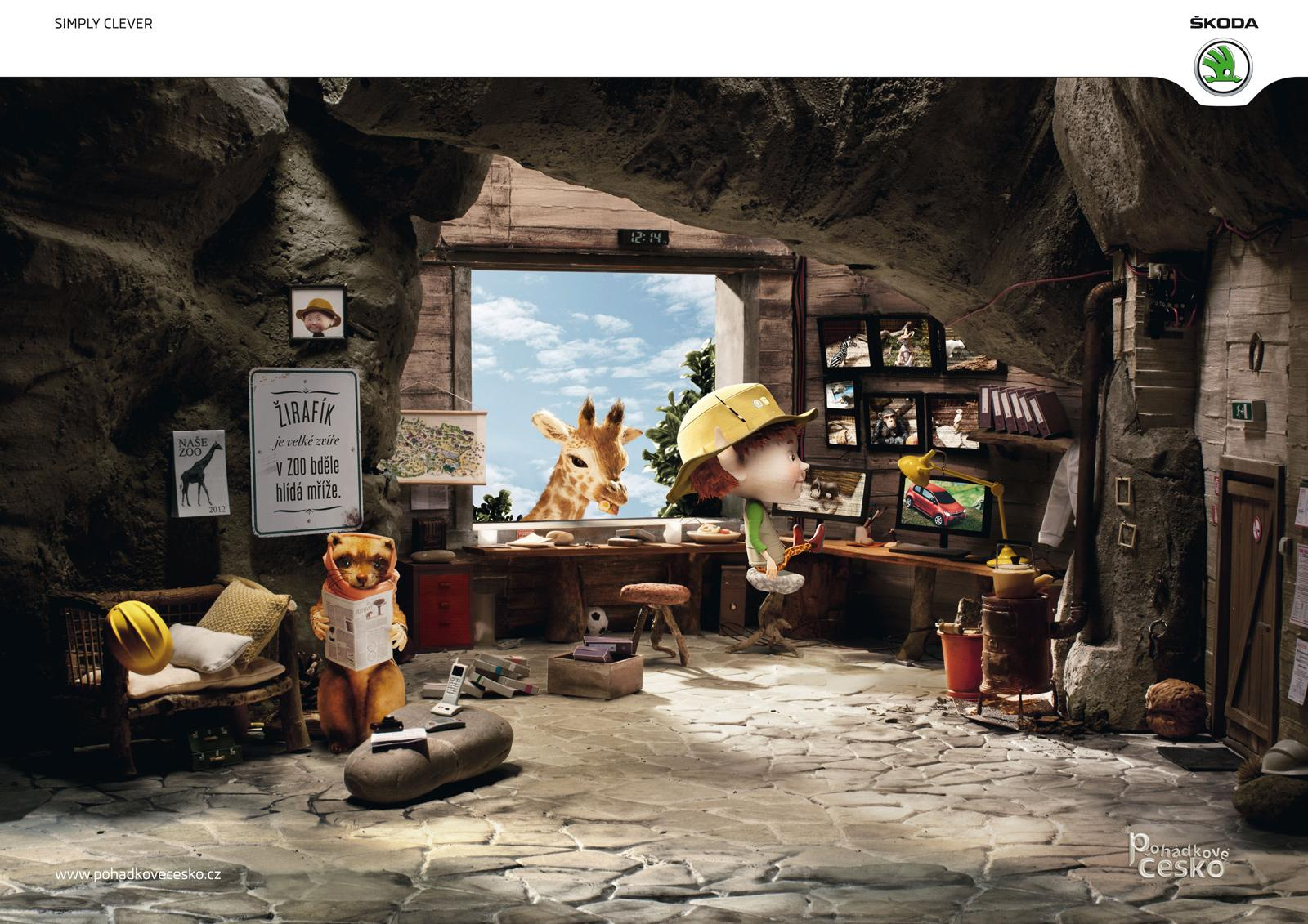 Skoda Print Ad -  Fairytales of the Czech republic, ZOO Elf