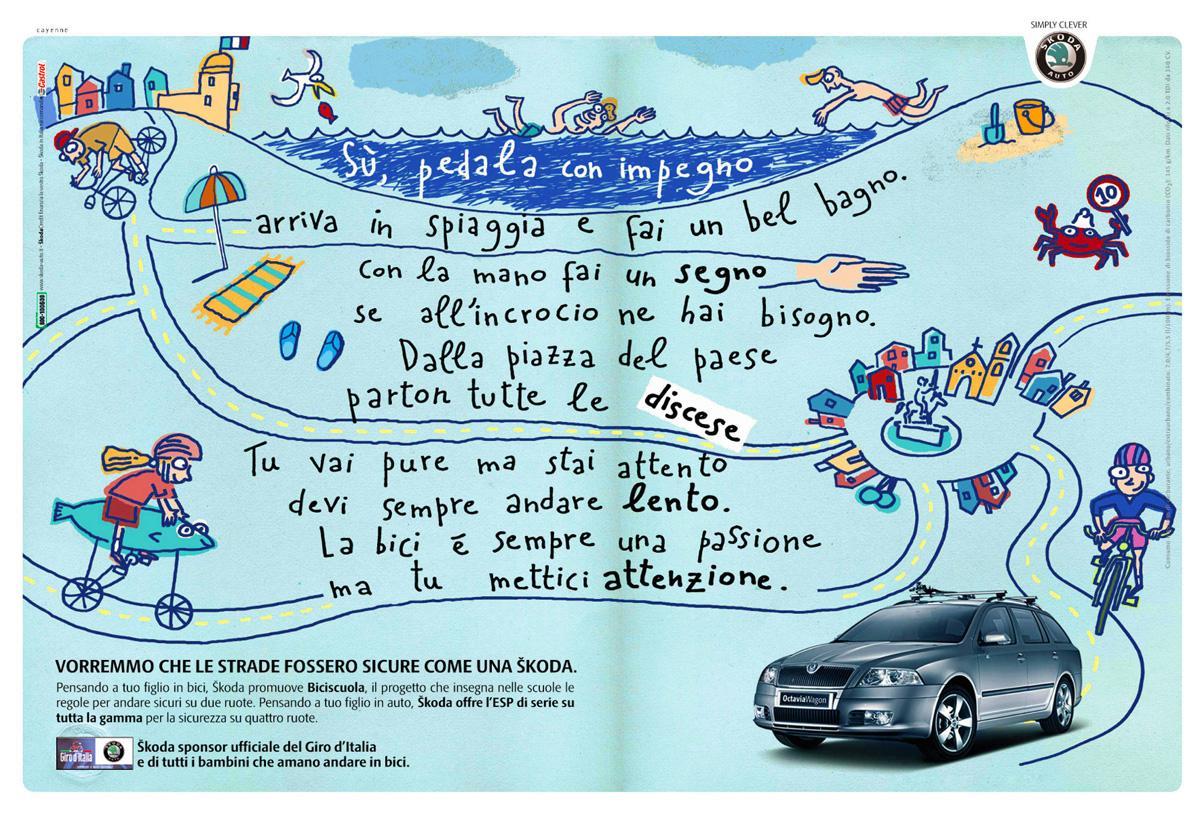 Skoda Print Ad -  Beach
