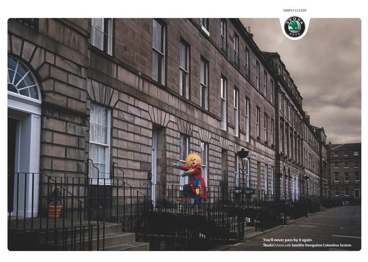 Skoda Print Ad -  Clown