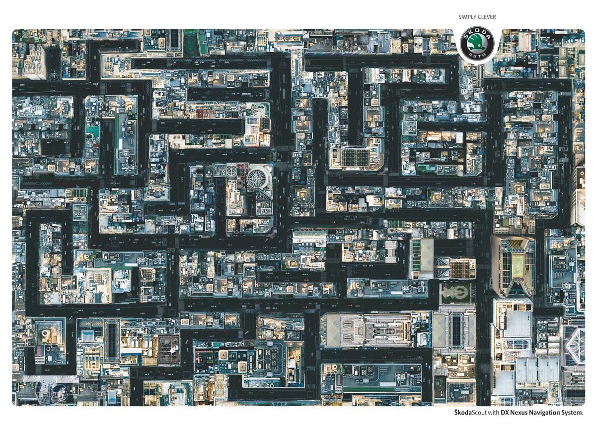 Skoda Print Ad -  Labyrinth