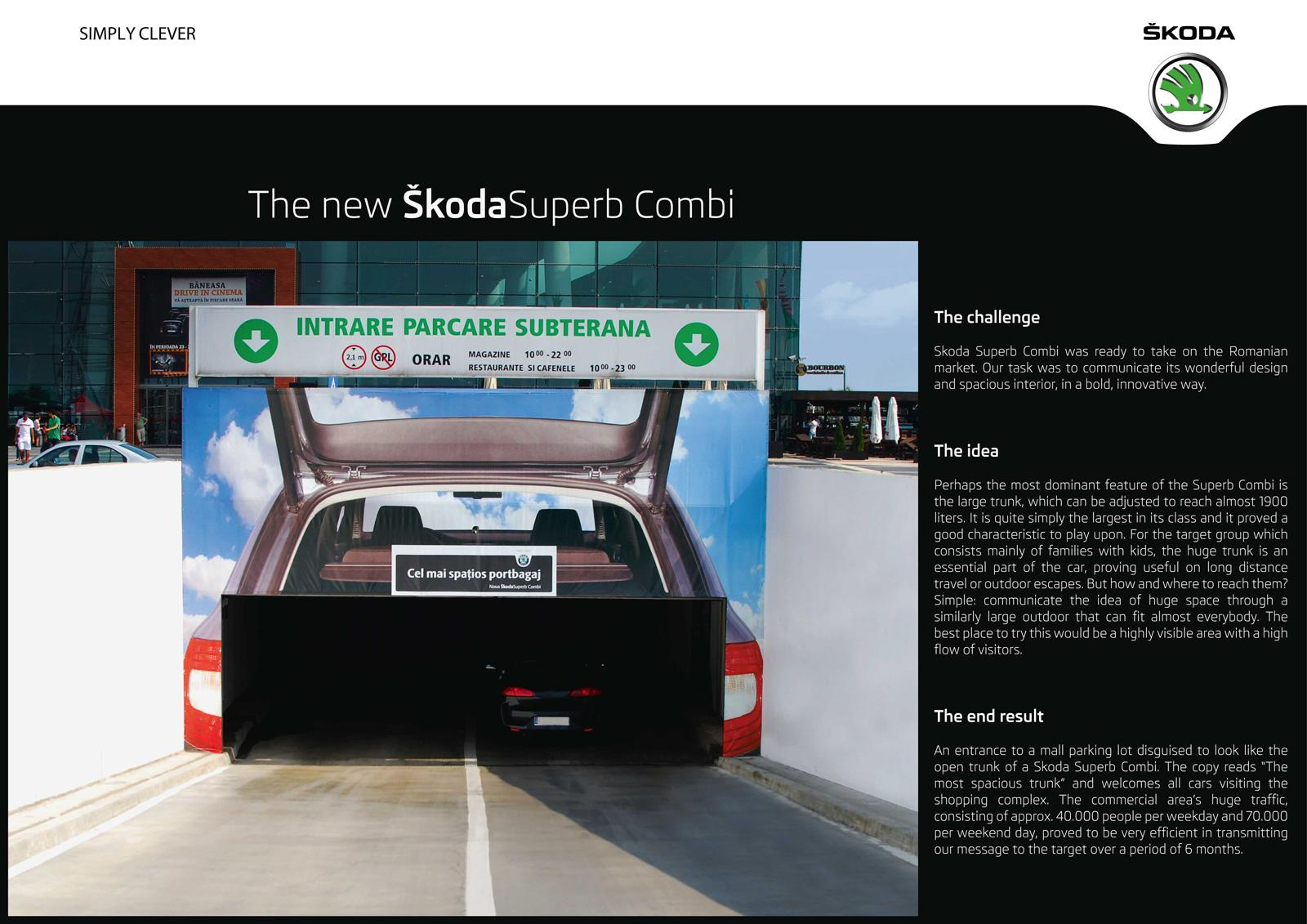 Skoda Outdoor Ad -  Trunk Tunnel
