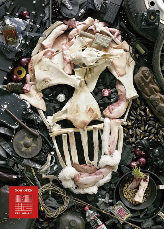 Kellohalli Outdoor Ad -  Skull