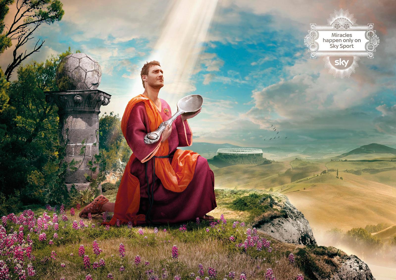 SKY Print Ad -  Miracles, Totti