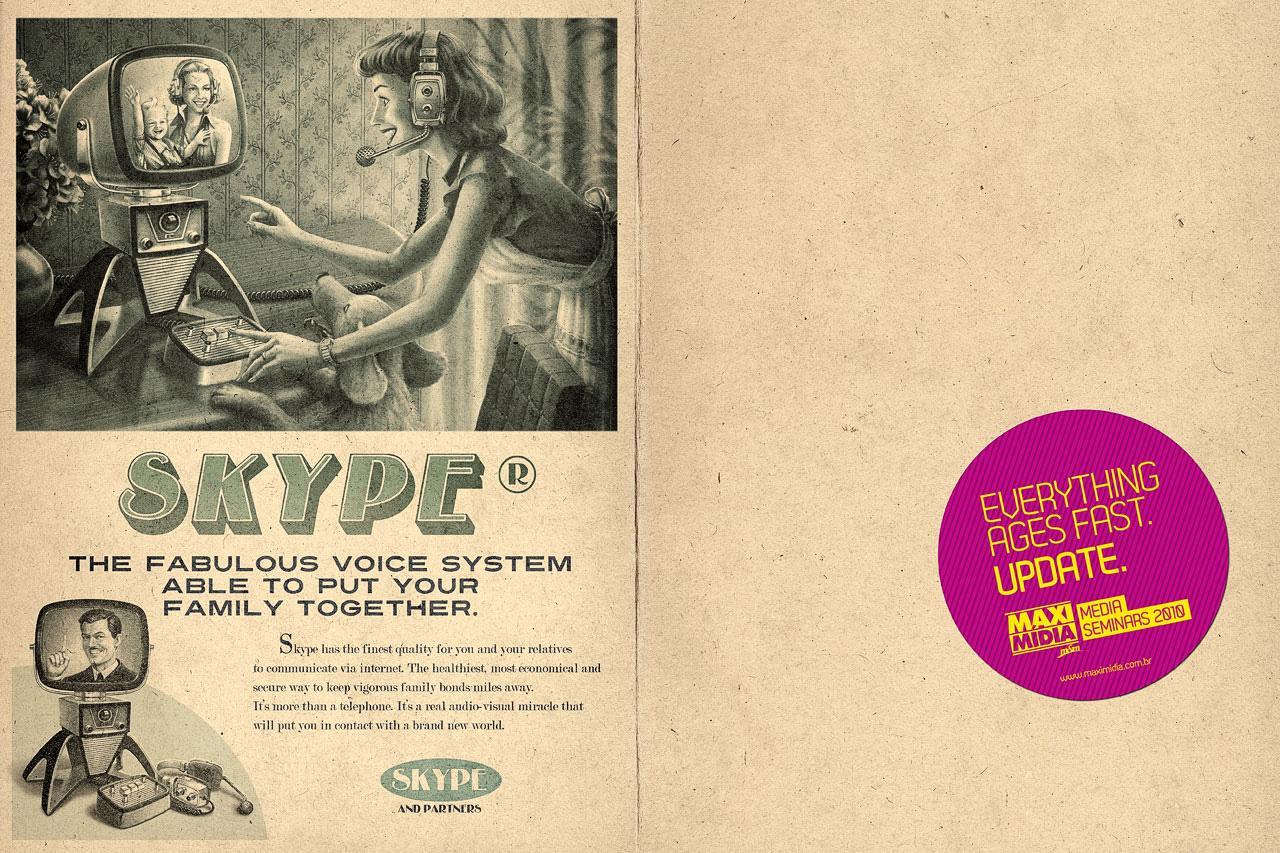 Maximidia Print Ad -  Vintage Skype