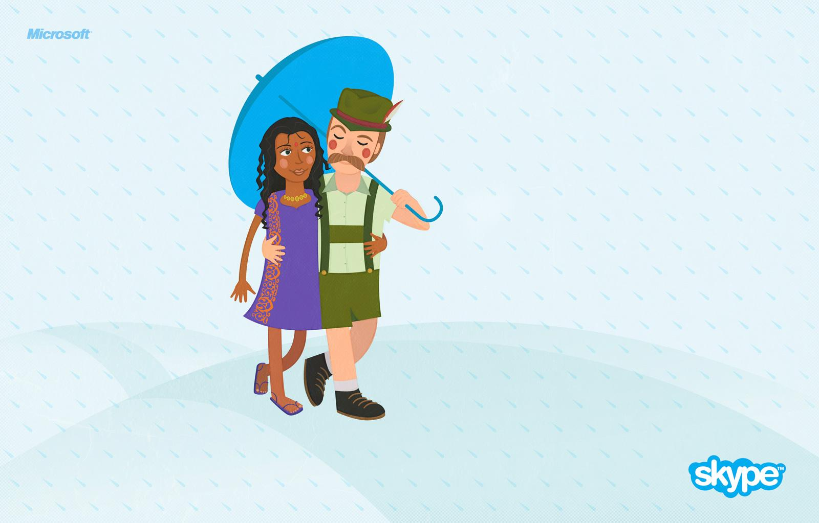 Skype Print Ad -  Umbrella