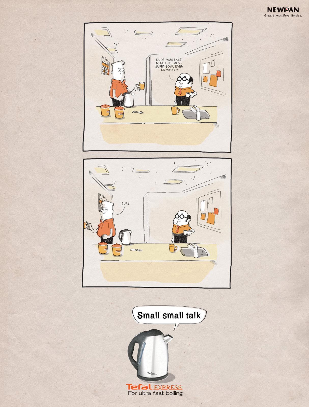 Tefal Print Ad -  Small Small Talk