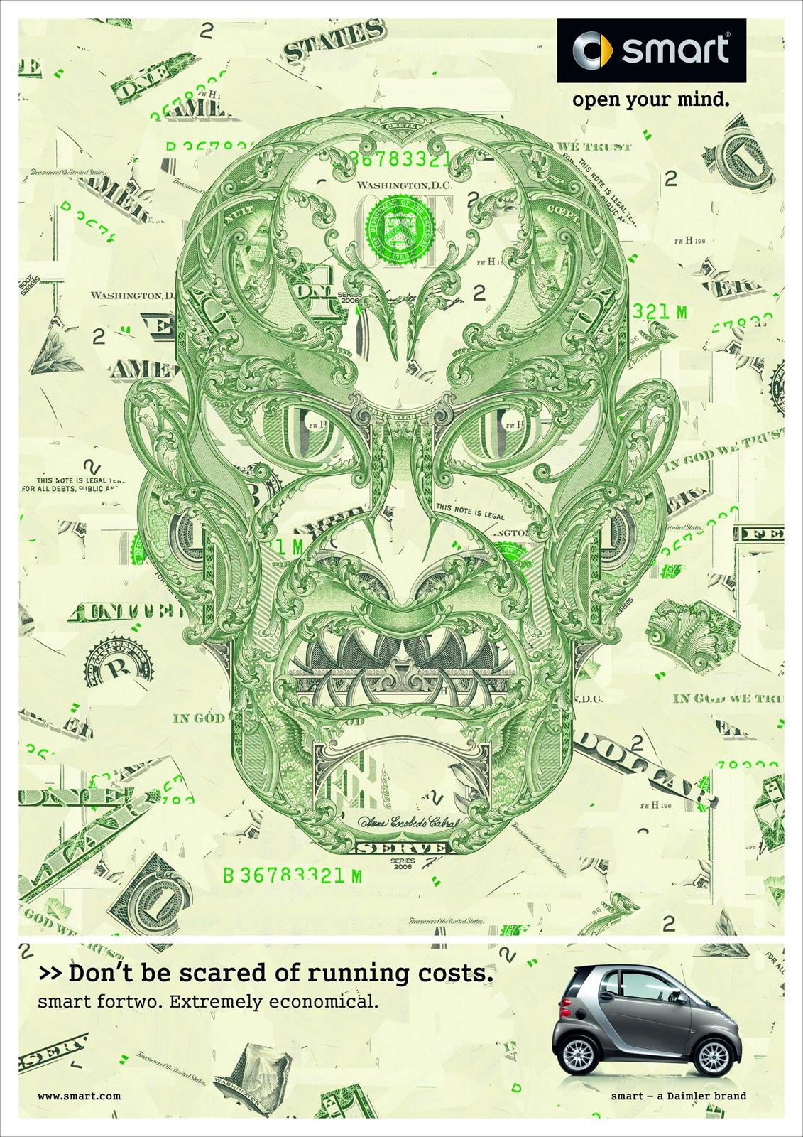 Smart Print Ad -  Evil Costs, Green
