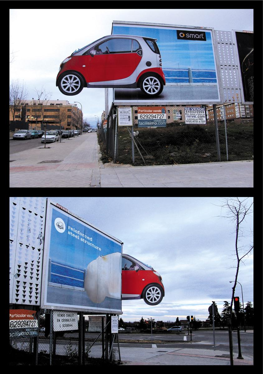 Smart Ambient Ad -  Corner billboard