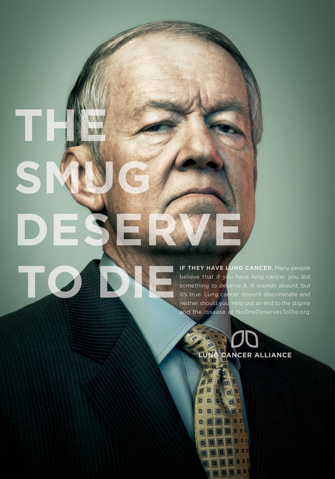 Lung Cancer Alliance Print Ad -  Smug