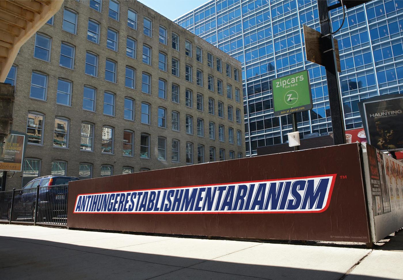Snickers Outdoor Ad -  Antihungerestablishmentarianism