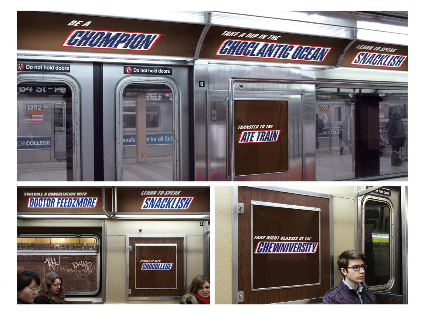 Snickers Outdoor Ad -  Subway