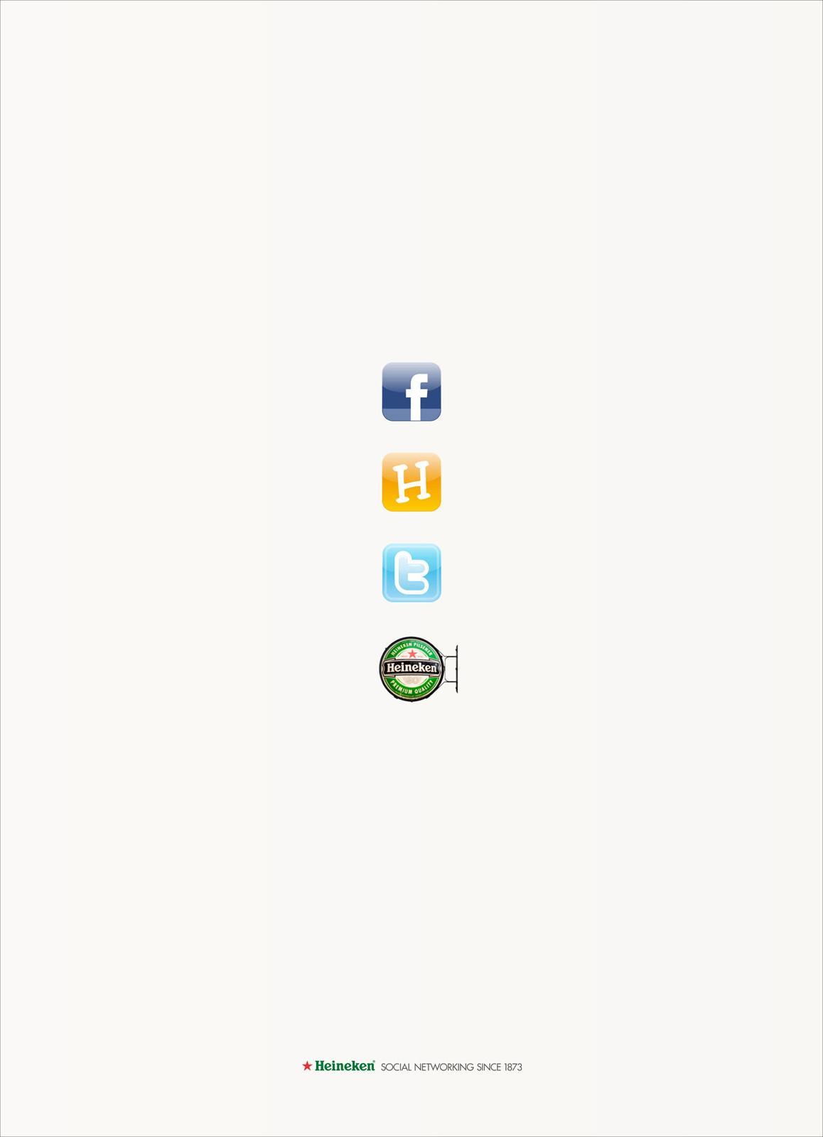 Heineken Print Ad -  Social Networking since 1873