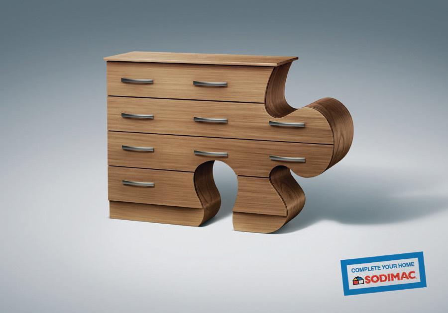 Sodimac Print Ad -  Puzzle piece, 1