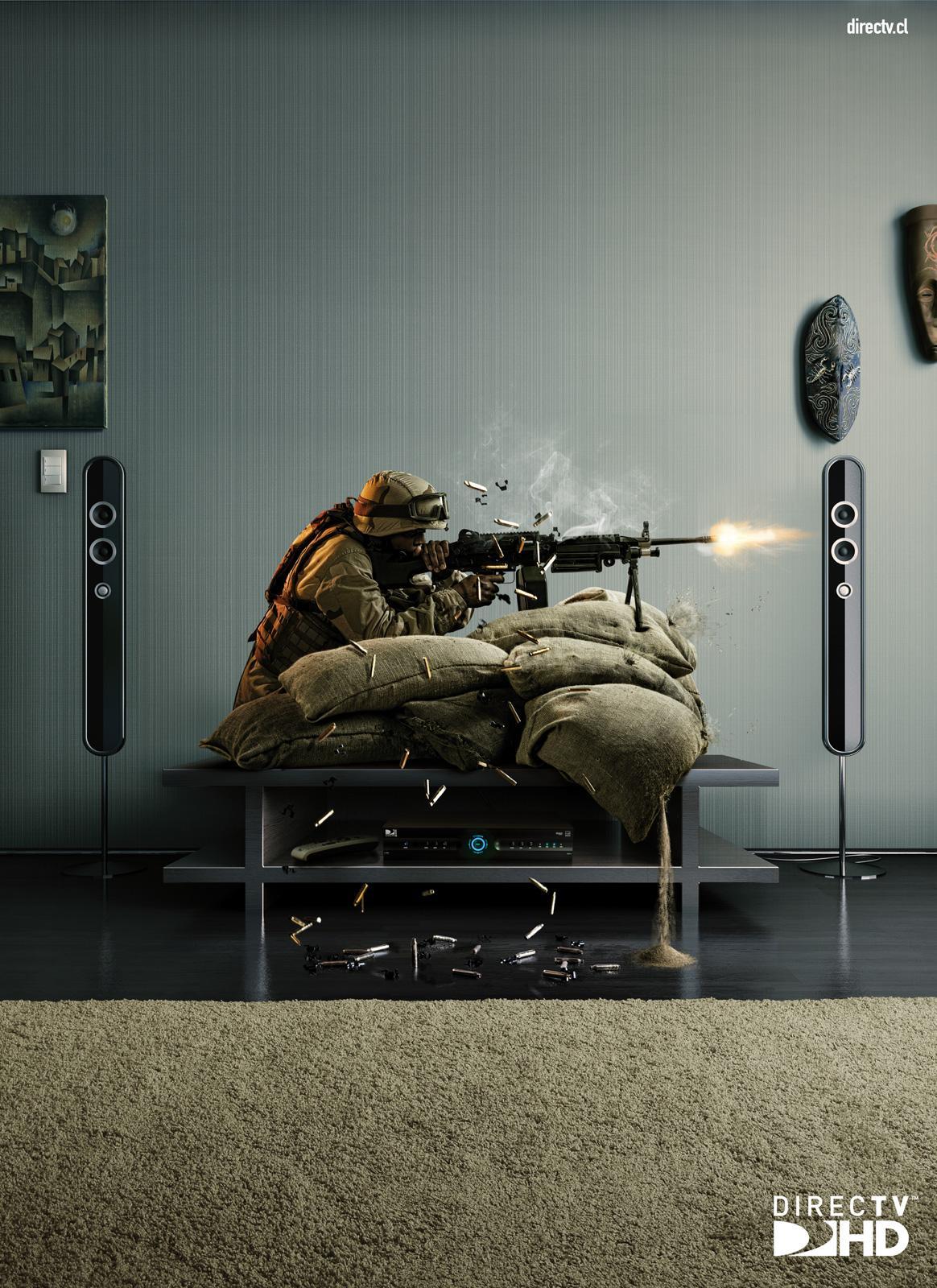 DIRECTV Print Ad -  Soldier
