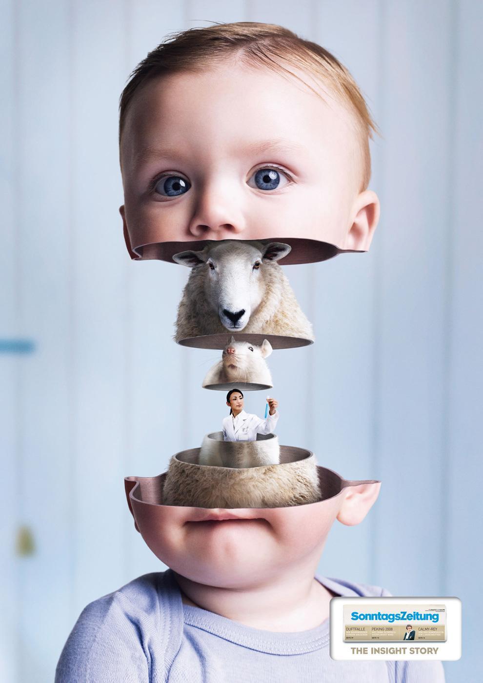 Sonntags Zeitung Print Ad -  Baby