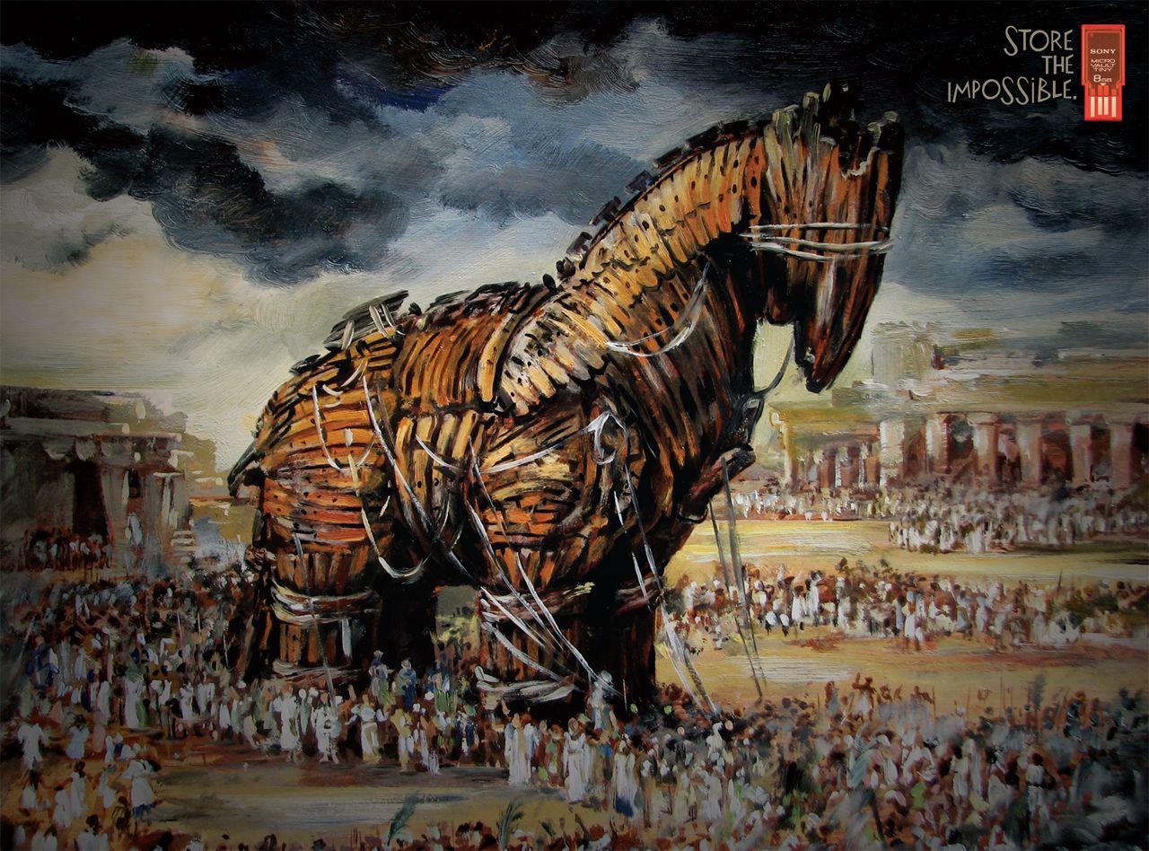 Sony Print Ad -  Trojan horse