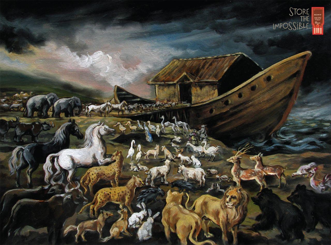 Sony Print Ad -  Noah's ark