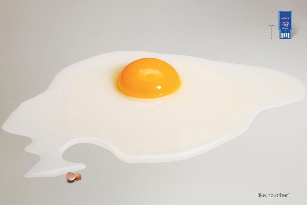 Sony Print Ad -  Egg