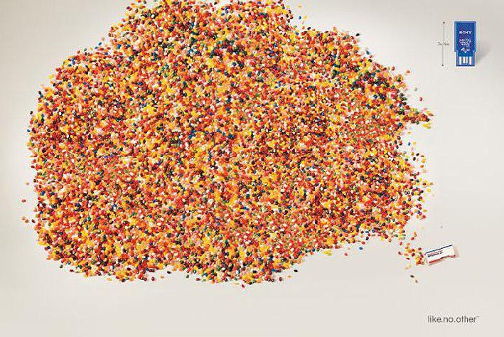 Sony Print Ad -  Jelly beans