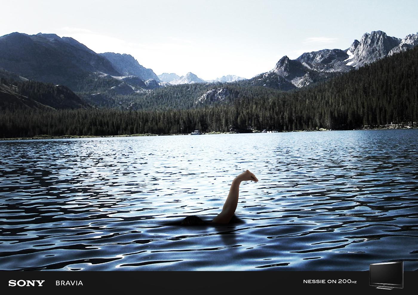 Sony Print Ad -  Nessie