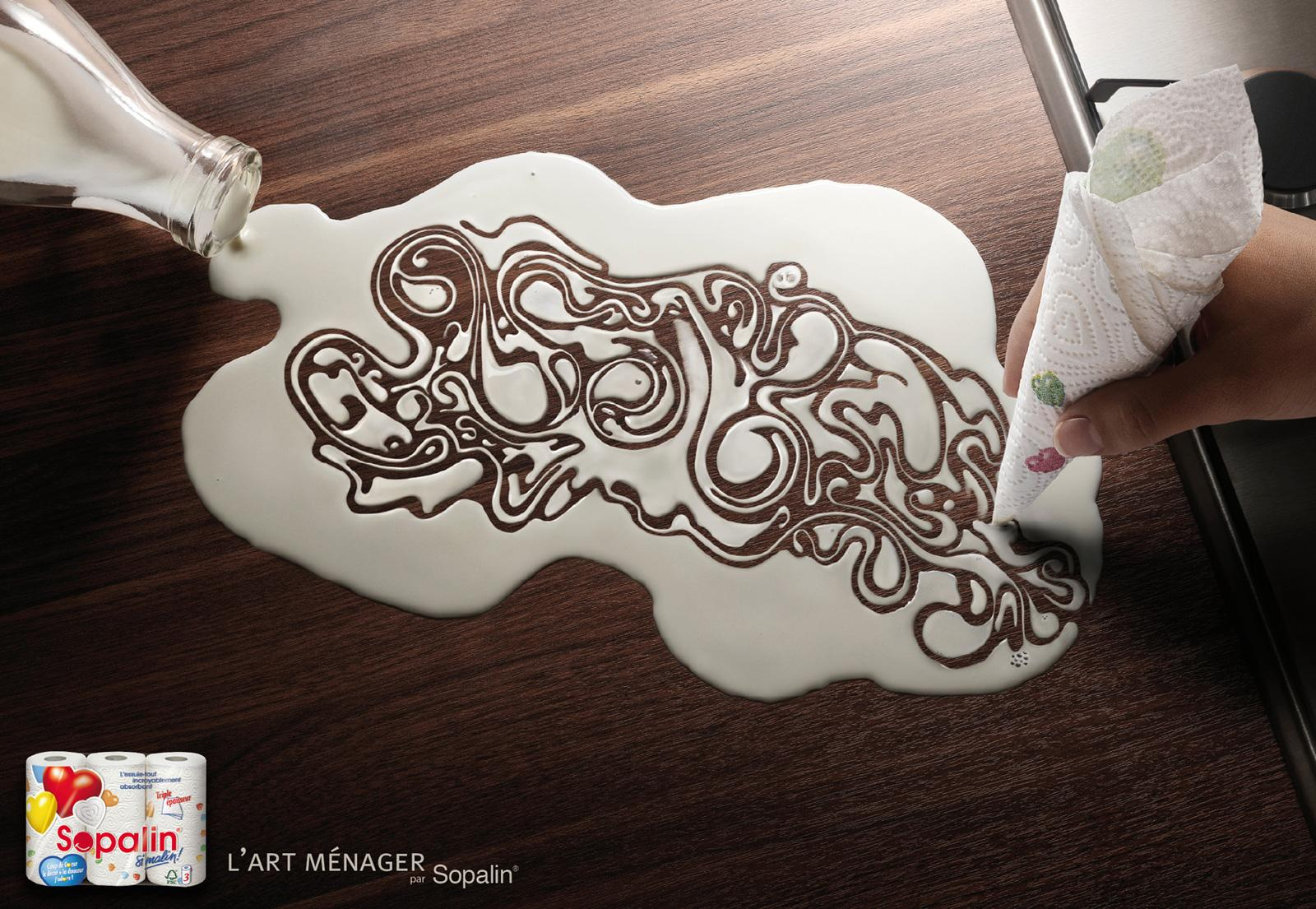 Sopalin Print Ad -  The art of cleaning, 2
