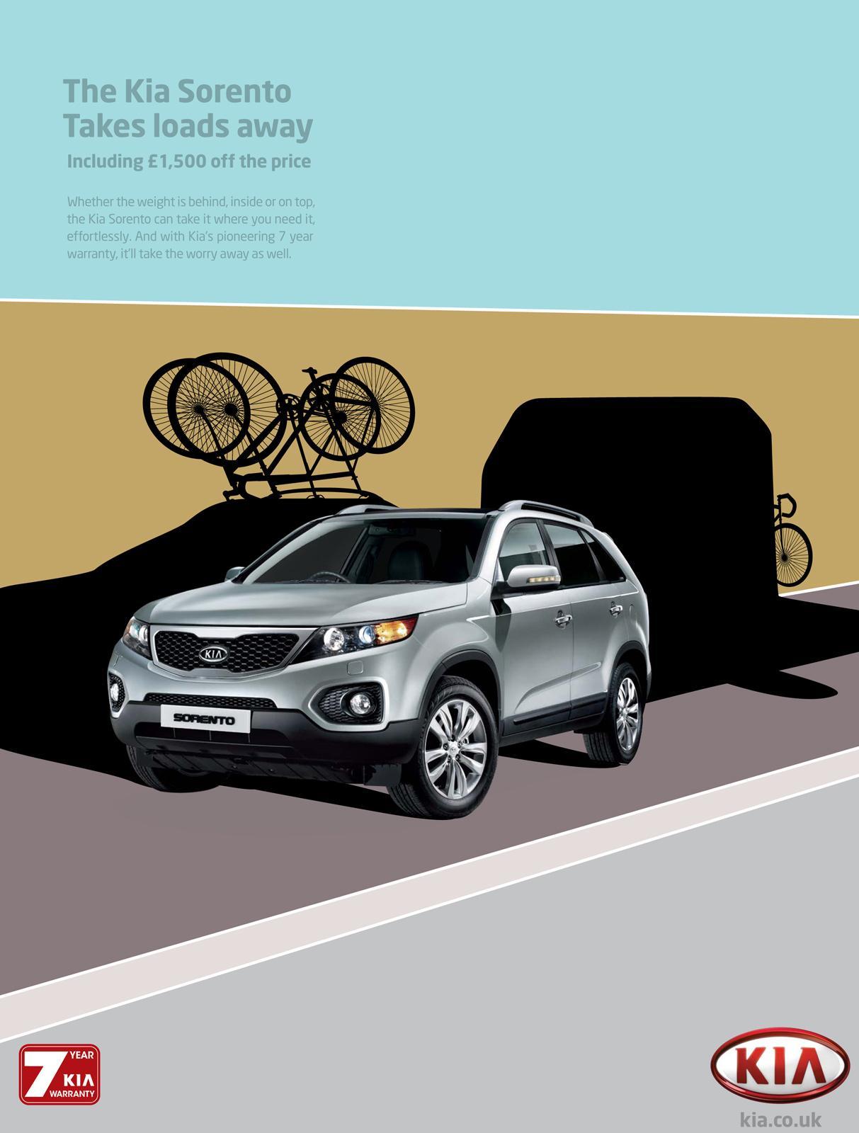 KIA Print Ad -  Pulling bikes