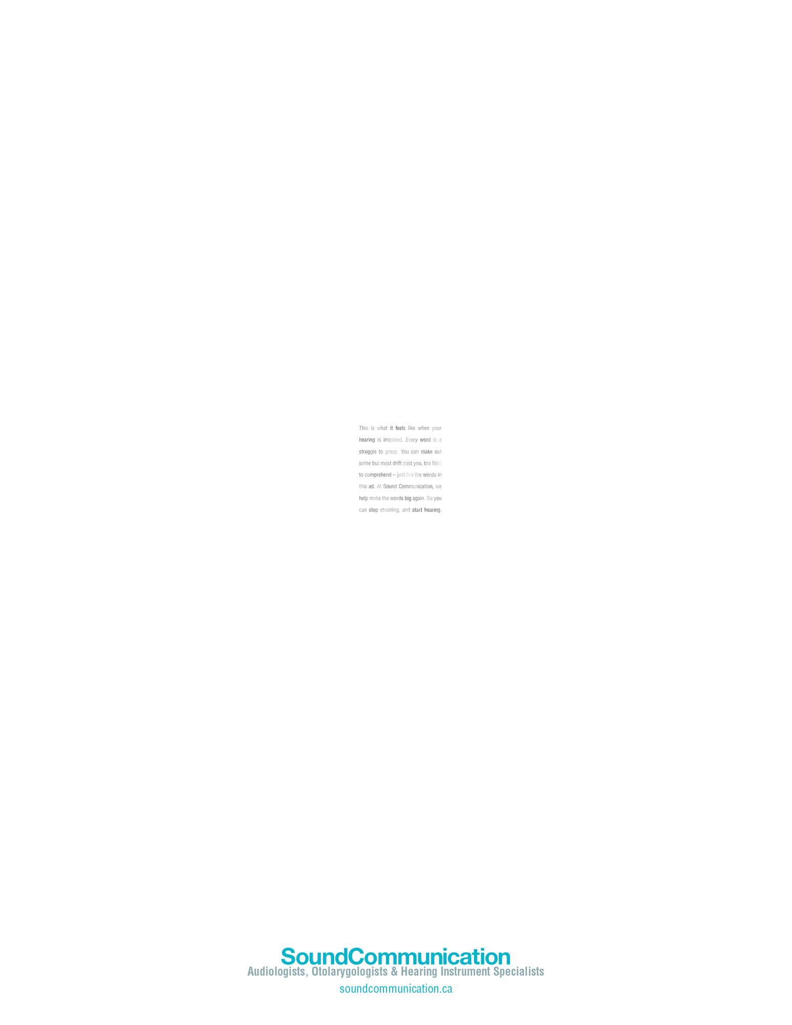 Sound Communication Print Ad -  Close-up, 1