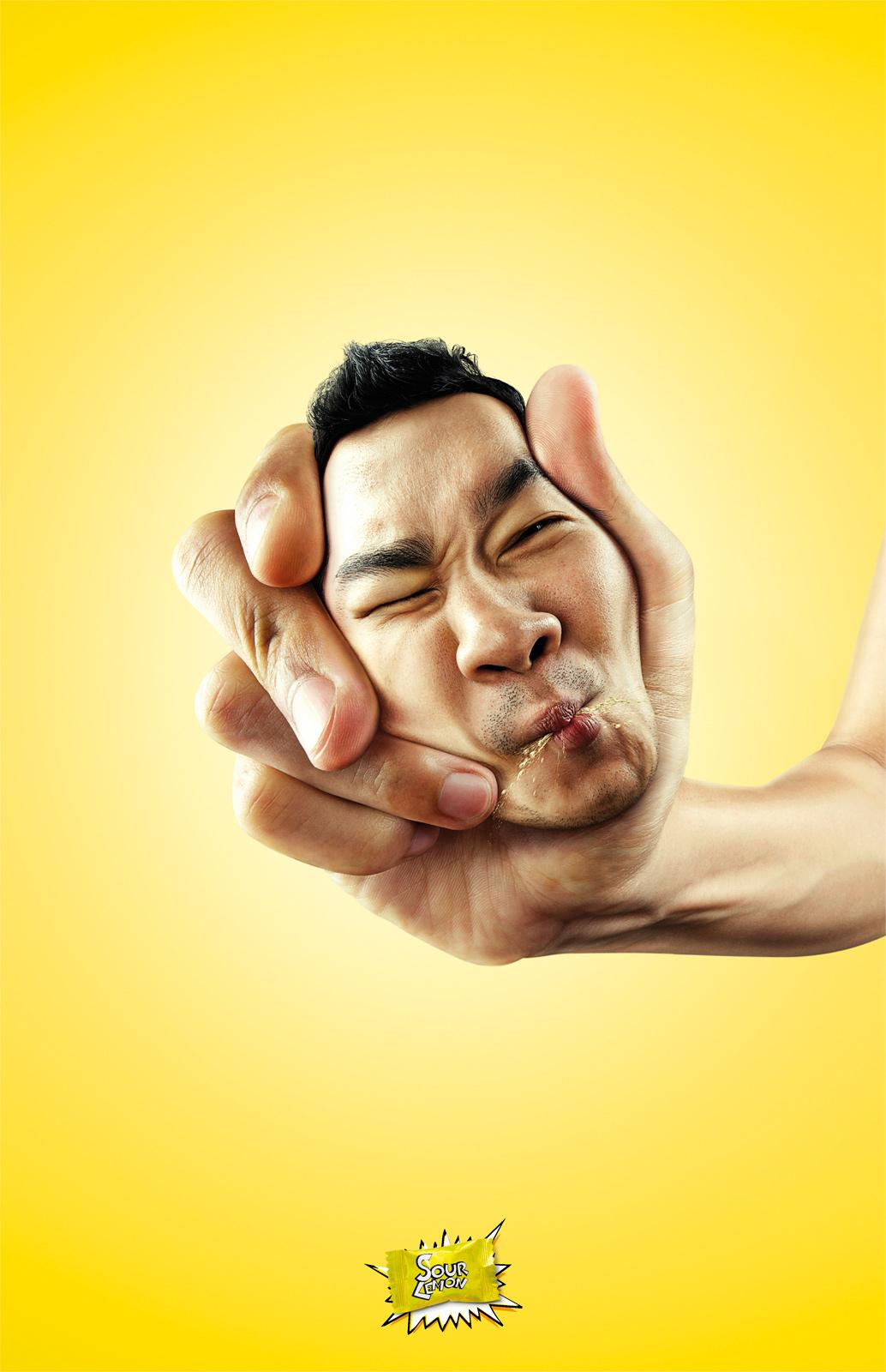Sour Lemon Print Ad -  Face Squeeze, Boy