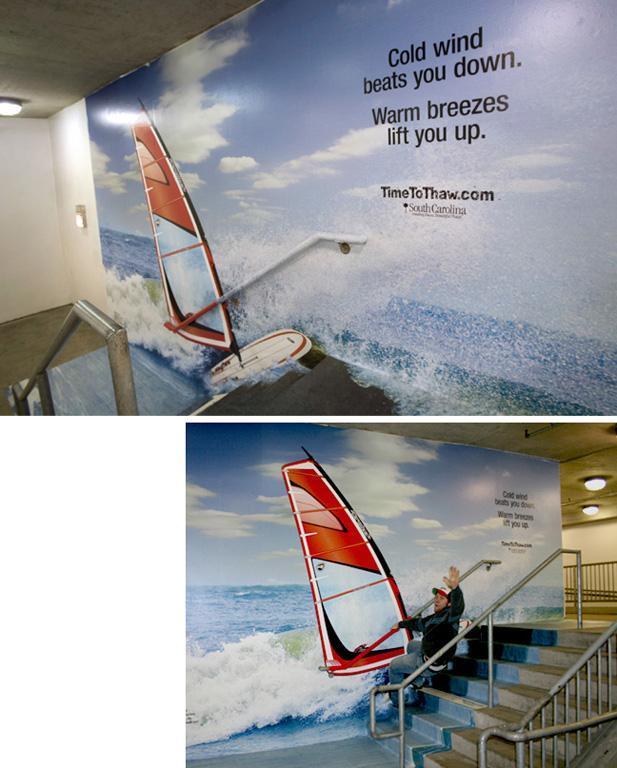 South Carolina Tourism Ambient Ad -  Windsurf