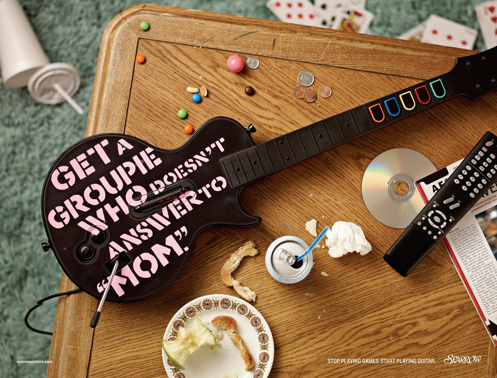 Sparrow Guitars Print Ad -  Mom