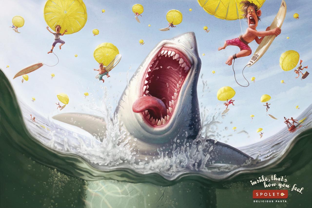 Spoleto Print Ad -  Shark