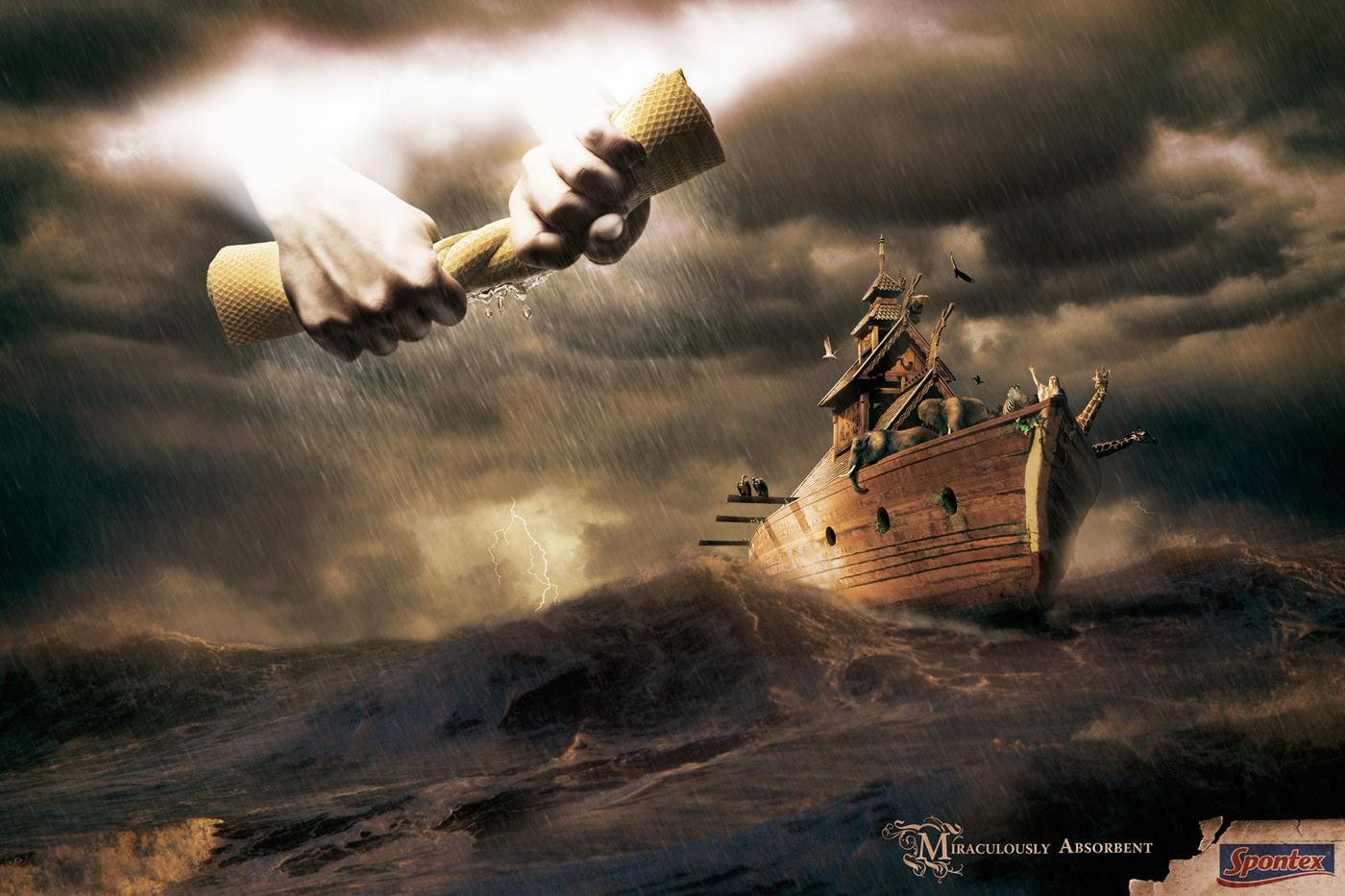 Spontex Print Ad -  Noah's Ark